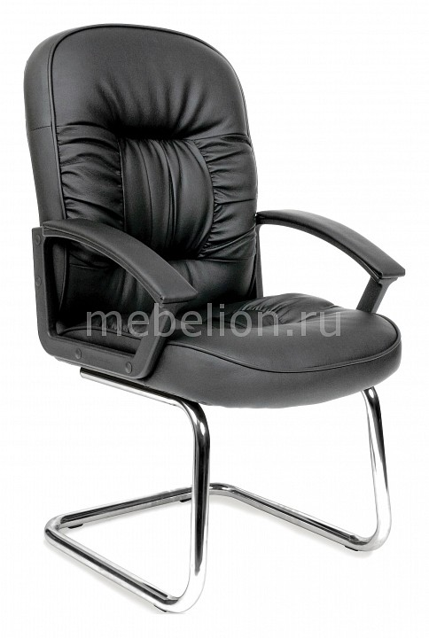 Кресло Chairman 418 V черный/хром  тумбочка под стол выкатная