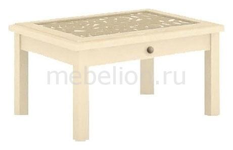 Стол журнальный Александрия 618.060 Кожа Ленто/Рустика