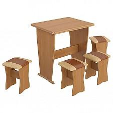 Набор кухонный Мебель Трия тип 3 ольха/бук/коричневый
