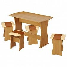 Набор кухонный Мебель Трия тип 1 ольха/бук/коричневый