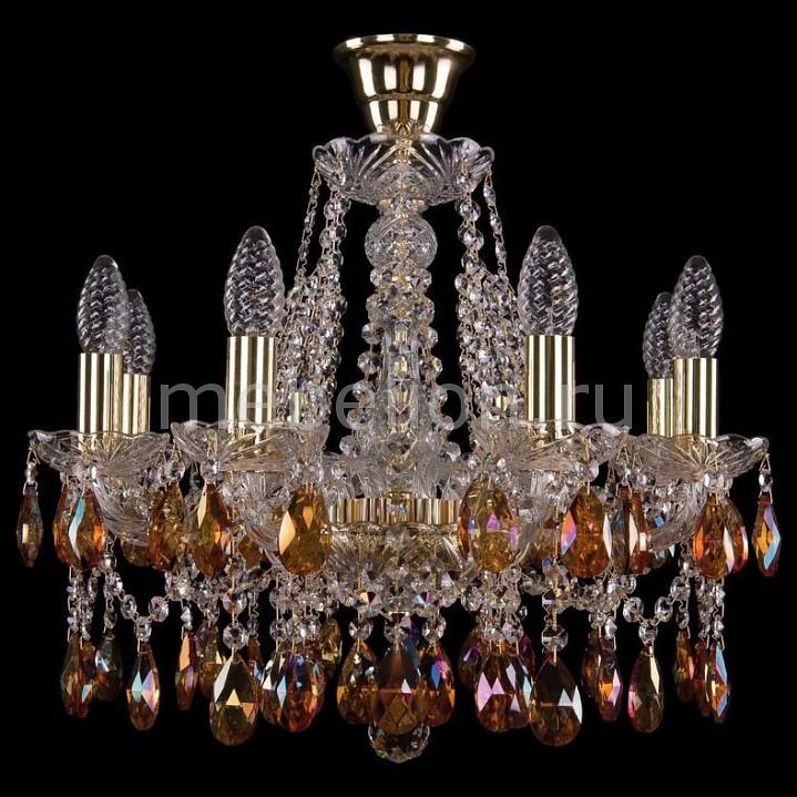 Подвесная люстра Bohemia Ivele Crystal 1413/8/165/G/K711 1413