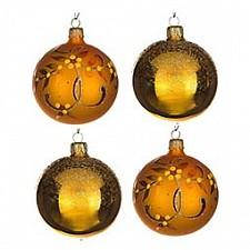 Набор елочных шаров АРТИ-М Набор из 4 елочных шаров (7.5 см) Злата 860-505