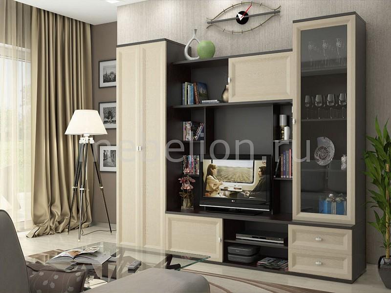 Стенка для гостиной Тэо СТЛ.039.00 венге тёмный/венге светлый mebelion.ru 12990.000