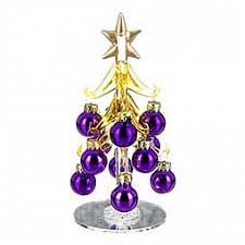 Ель новогодняя с елочными шарами (16 см) ART 594-018