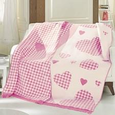 Плед полутораспальный Candy розовый F0089860