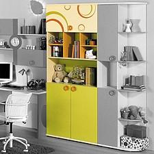 Стеллаж Фруттис 503.080 желтый/лайм/манго