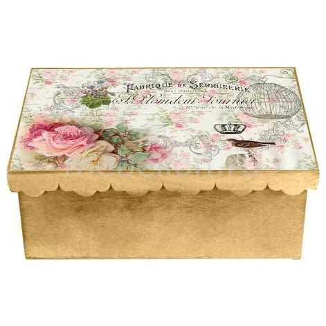 Шкатулка декоративная (26х18х13 см) Розы 1826-3