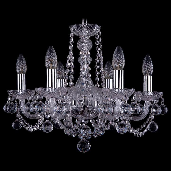 Подвесная люстра Bohemia Ivele Crystal 1402/6/160/Ni/Balls 1402