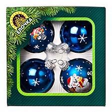 Набор из 4 елочных шаров Дружба 860-156