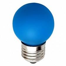 Лампа светодиодная Feron LB-37 E27 220В 1Вт синий цвет 25118