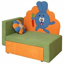 Диван-кровать Соната М11-3 Зайчик 8011127 зеленый/оранжевый