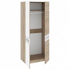 Шкаф платяной Ларго СМ-181.07.004 дуб сонома/белый глянец