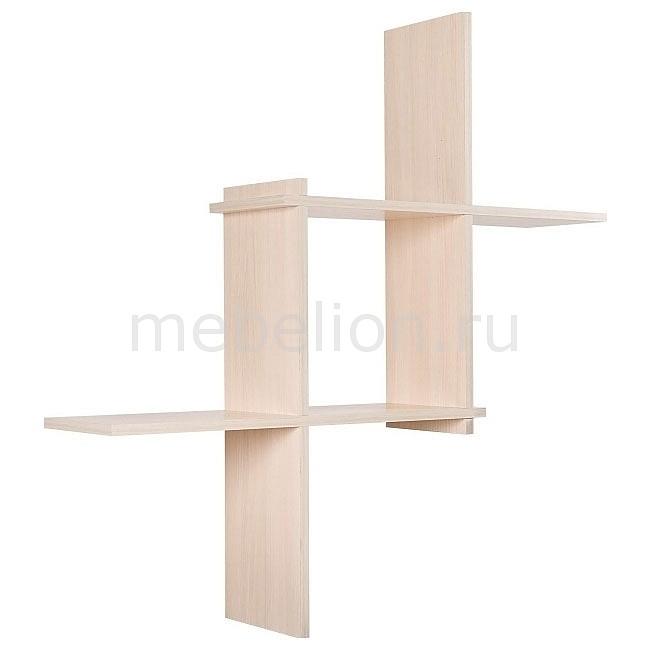 Полка настенная Кубик-3 7070-03 дуб беленый mebelion.ru 867.000