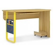 Стол компьютерный Джинс 507.130 сантана/джинс/желтый бриллиант