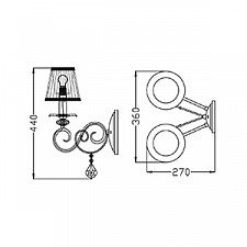Бра Maytoni ARM303-02-R Elegant 12