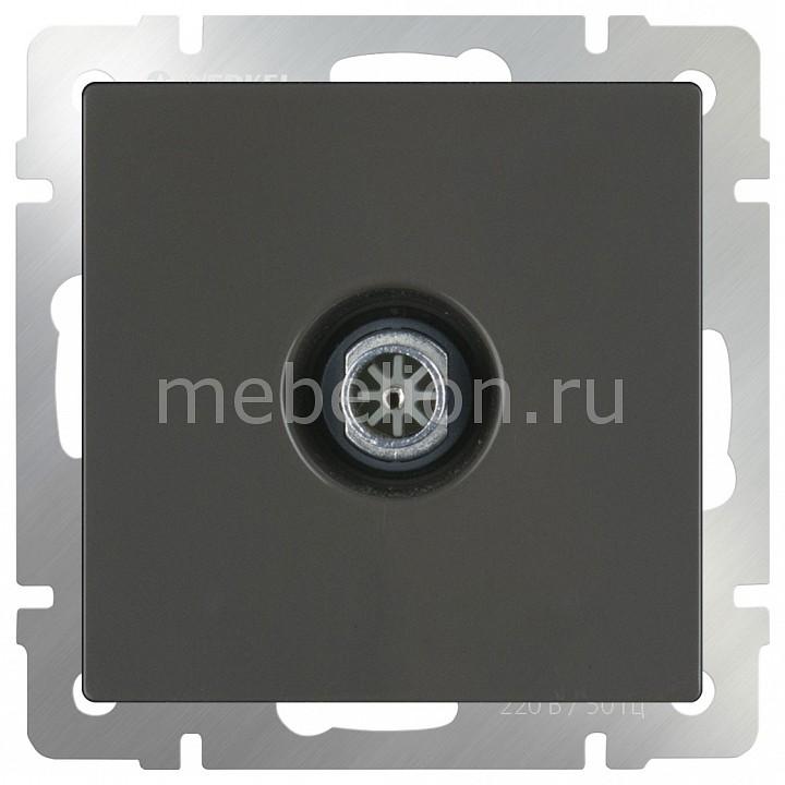 ТВ-розетки проходные без рамки Серо-коричневый WL07-TV-2W