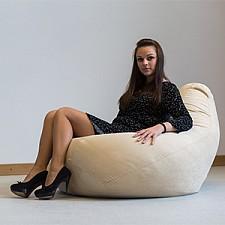 Кресло-мешок Бежевая замша II