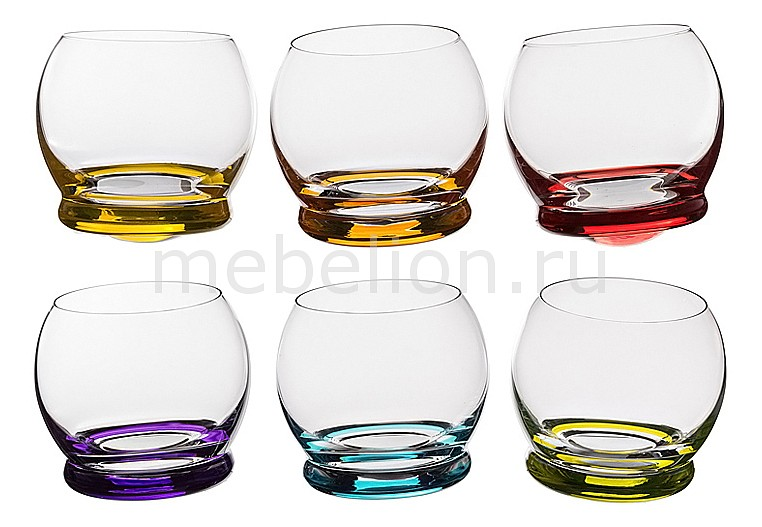 Набор стаканов АРТИ-М Набор из 6 стаканов Crazy 674-359 набор бокалов арти м набор из 6 бокалов виола микс 674 320