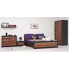 Кровать полутораспальная Ксено (Корсика) СТЛ.078.17 дуб феррара/слива валлис