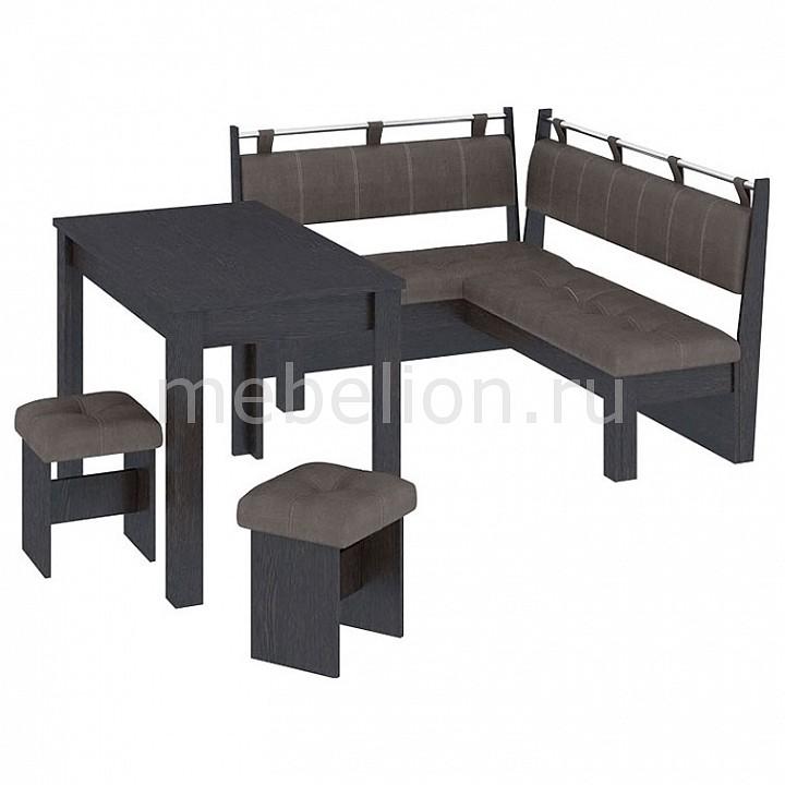 Набор кухонный Мебель Трия Уголок кухонный Омега венге цаво/лён коричневый уголок кухонный мебель трия диван кантри т1 исп 2 венге темно коричневый