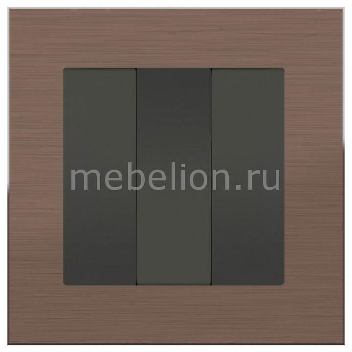 Выключатель трехклавишный Werkel Aluminium (Серо-коричневый) WL07-SW-2G+WL07-SW-3G ce emc lvd fcc 1g 2g 3g 5g ozone generator for cleaning vegetables hottest