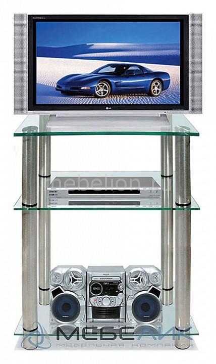 Подставка для ТВ ТВ-3.60 металлик/прозрачное mebelion.ru 7560.000