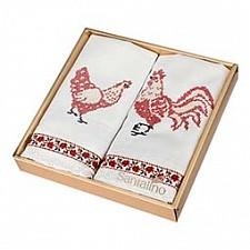 Набор из 2 салфеток Куриная семейка 850-533-6