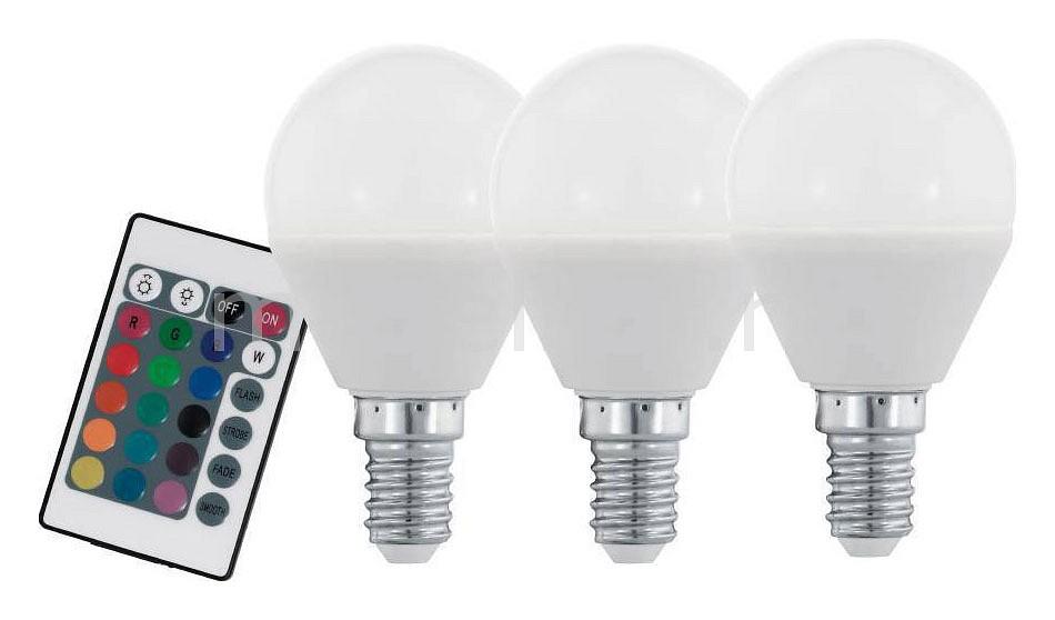 Комплект из 3 ламп светодиодных диммируемых с пультом ДУ P45-RGBW E14 45Вт 3000K 10683