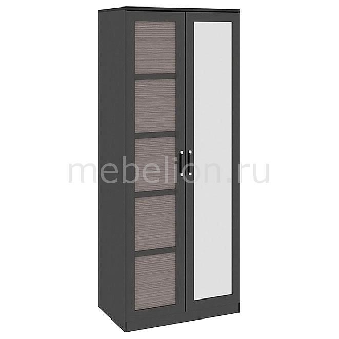 Шкаф платяной Мебель Трия Токио СМ-131.08.005 венге цаво/венге цаво/каналы дуба гарнитур для спальни мебель трия сакура гн 183 01 04 венге цаво венге цаво кожа лара темная