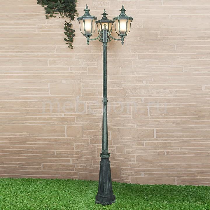 Фонарный столб Elektrostandard Taurus F/3 малахит (арт. GLXT-1458F/3) садовый светильник elektrostandard taurus f 3 малахит арт glxt 1458f 3