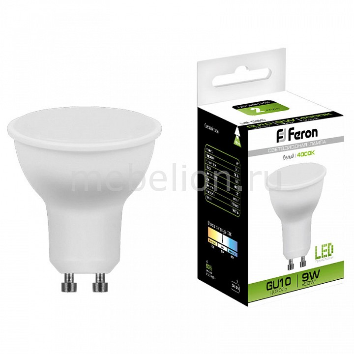 Лампа светодиодная [поставляется по 10 штук] Feron Лампа светодиодная LB-560 GU10 9Вт 220В 4000 К 25843 [поставляется по 10 штук] akg k912e