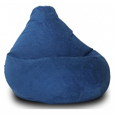 Кресло-мешок Синяя замша II
