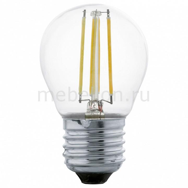 Лампа светодиодная [поставляется по 10 штук] Eglo Лампа светодиодная G45 E27 4Вт 2700K 11498 [поставляется по 10 штук] лампа светодиодная [поставляется по 10 штук] eglo лампа светодиодная a65 e27 16вт 4000k 11564 [поставляется по 10 штук]