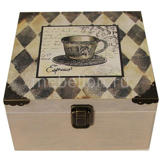 Шкатулка декоративная (24х24х13 см) Espresso 1012-14