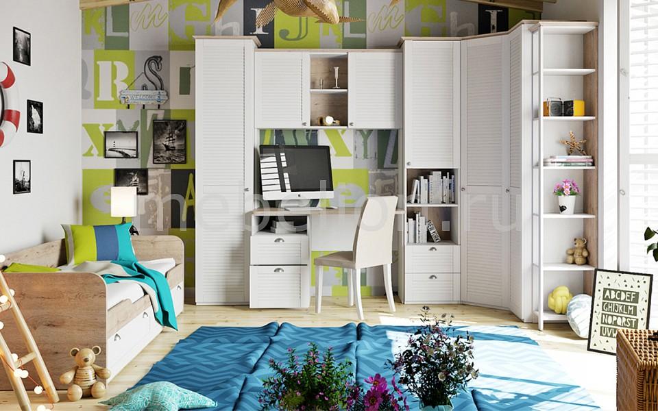 Гарнитур для детской Мебель Трия Ривьера ГН-241.103 шкаф для белья мебель смоленск шк 09