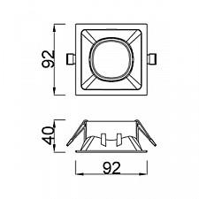 Встраиваемый светильник Mantra C0163 Comfort