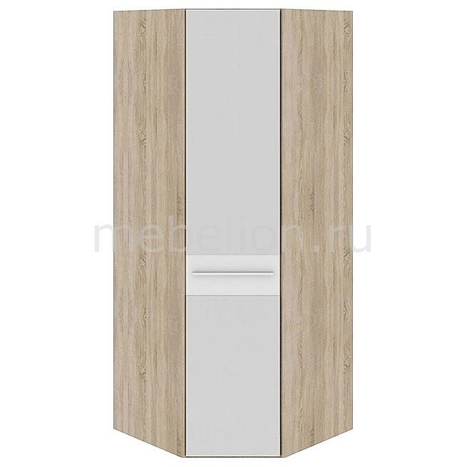 Шкаф платяной угловой Ларго СМ-181.07.007 дуб сонома/белый глянец