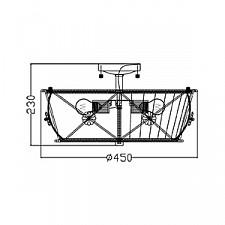 Светильник на штанге Maytoni ARM369-03-G Lea