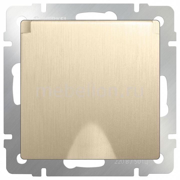 все цены на Розетка влагозащищенна с заземлением с крышкой со шторками Werkel , без рамки Шампань рифленый WL10-SKGSC-01-IP44 онлайн