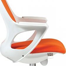 Кресло компьютерное Chairman 820 оранжевый/белый