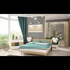 Гарнитур для спальни Ирма 17 дуб сонома/белый глянец