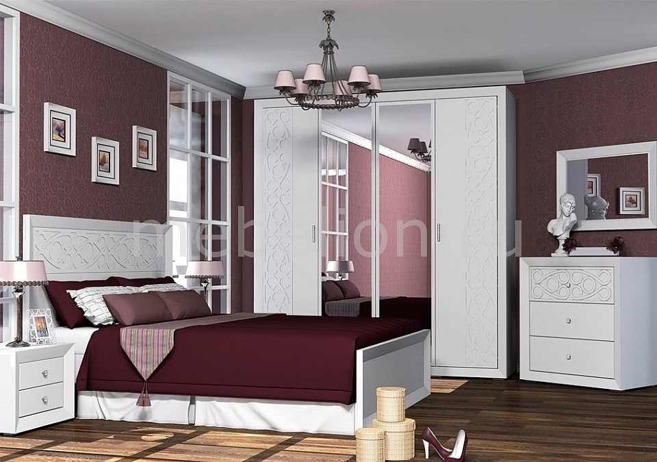 Гарнитур для спальни Адель  пуфики онлайн
