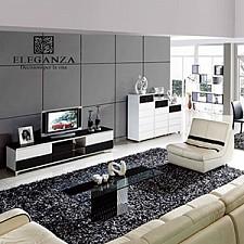 Тумба под ТВ Modena V9001 черный/белый