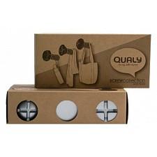 Набор из 3 крючков декоративных Qualy QL10064-WH