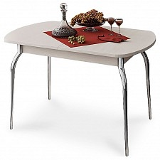 Стол обеденный Милан хром/дуб белфорт