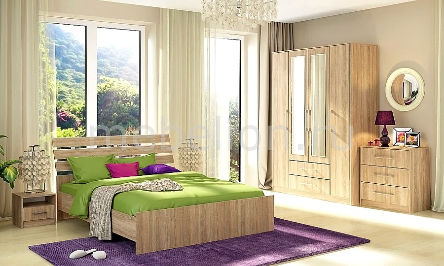Гарнитур для спальни Сиеста 3 дуб сонома  журнальный столик абакан