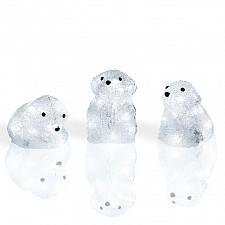 Комплект из 3 зверей световых Неон-Найт (20 см) Медвежата 513-266