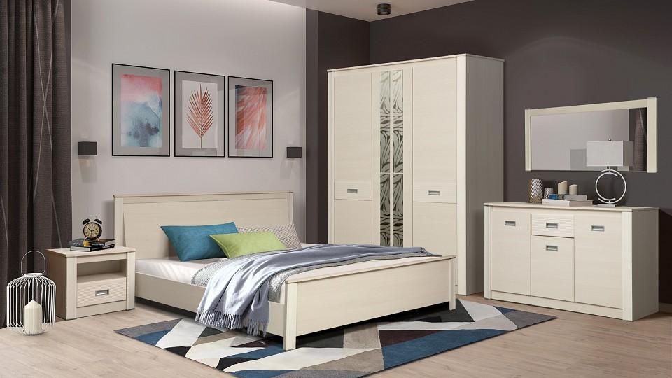 Гарнитур для спальни Олимп-мебель Стелла ясень шимо темный/ясень шимо светлый цены