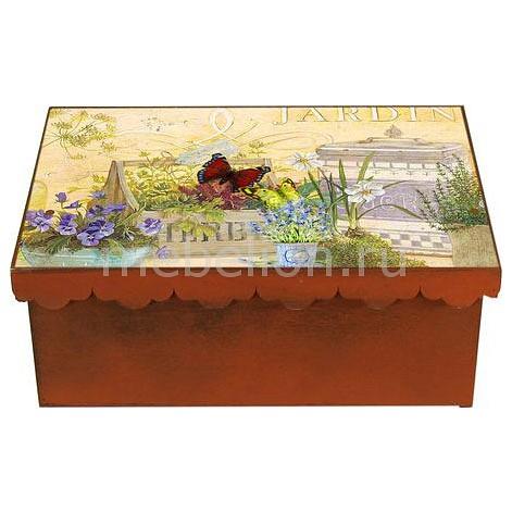 Шкатулка декоративная (26х18х13 см) Жардины 1826-2