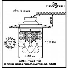 Встраиваемый светильник Novotech 369329 Drop